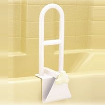 Tub Grab Bar Clamp On bath tub and shower grab bar - bathroom wall safety handle - nova 8220