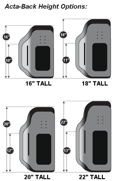 Back Height Options
