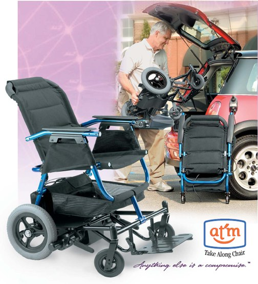 Invacare At 39 M Portable Power Wheelchair Take A Long Chair: portable motorized wheelchair