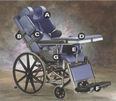 Invacare Htr 3500 Wheelchair Tilt And Recline Chair