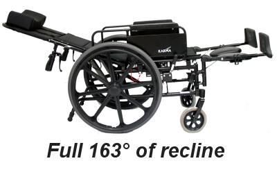 Karman km 5000f recliner wheelchair folding reclining wheelchair