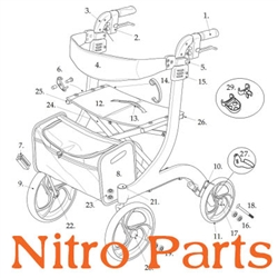 Nitro Rollator Parts Replacement Rollator Parts For 10266