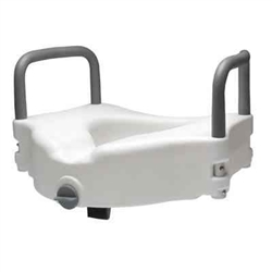 Raised Toilet Seat With Removable Arms Drive Medical