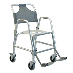 Shower Commode Transport Wheelchair Lumex 7915a