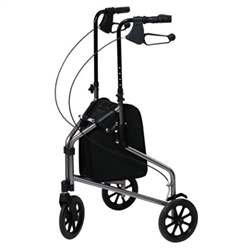 Lumex 3 Wheeled Rollator Model 609201 Three Wheel Walker