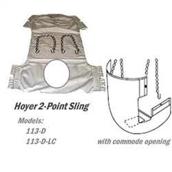 Hoyer Sling Commode Toileting Sling 2 Point Hoyer Lift