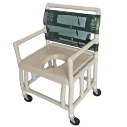 Pvc Bariatric Shower Commode Chair Heavy Duty Extra Wide