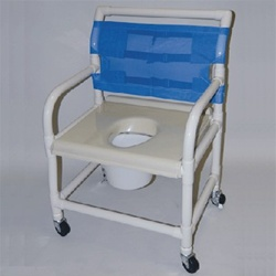 24 Quot Pvc Shower And Commode Chair Extra Wide Healthline