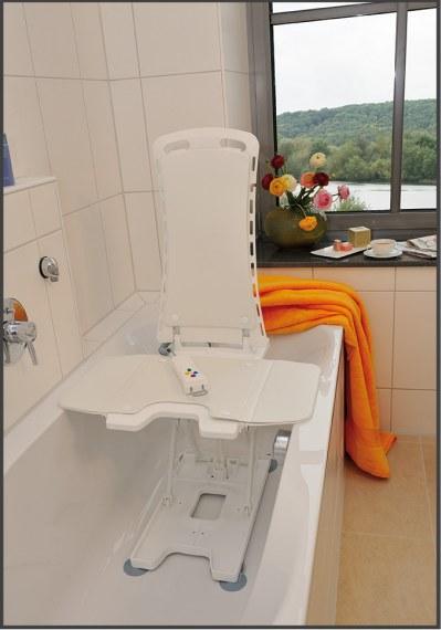 Powered Bath Lift with Reclining Back | Bellavita Bath Tub Lift