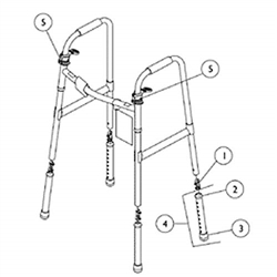 Replacement Parts For Invacare 6291a Walker
