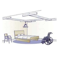 Voyager Easytrack With 4 Wall Mounts Overhead Ceiling Lift