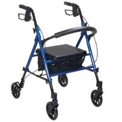 Drive Rtl10261 Aluminum Rollator Adjustable Seat Height