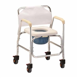 Nova 8800 Shower Commode Chair With Wheels Rolling