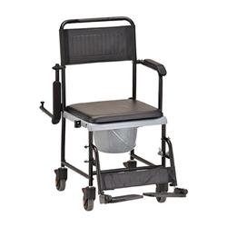 Nova 8805 Drop Arm Shower Commode Wheelchair Rolling