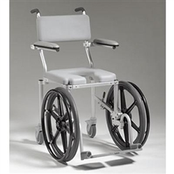Multichair 4020rx Roll In Shower Commode Chair With Wheels